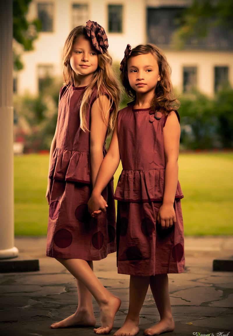 _JAN red dotty dress 2 models