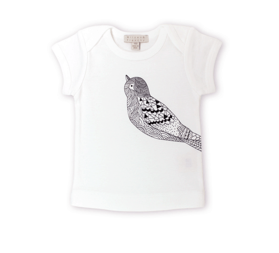 Short Sleeve Tee with Bird Print 1