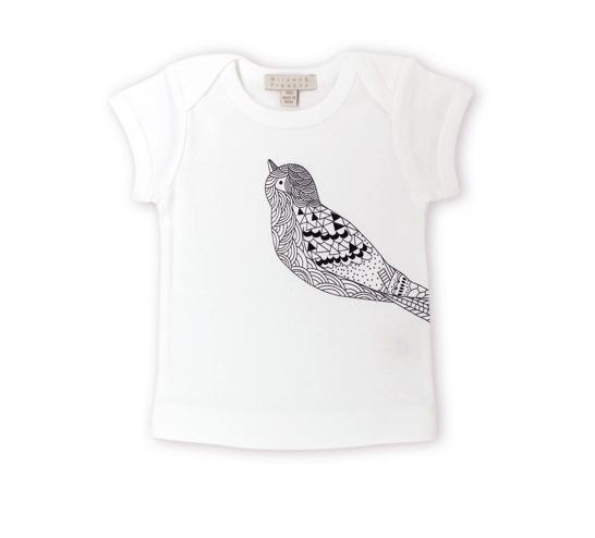 Short Sleeve Tee with Bird Print 1