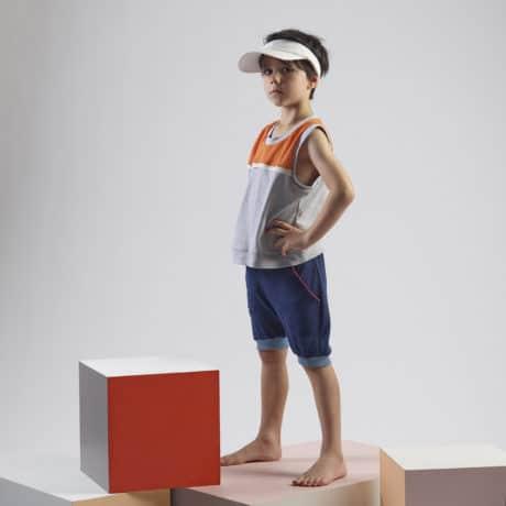 Pala Mino basketball vest and shorts front