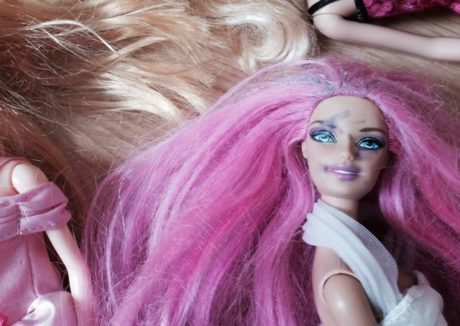 barbie after being played with by a 4 year old