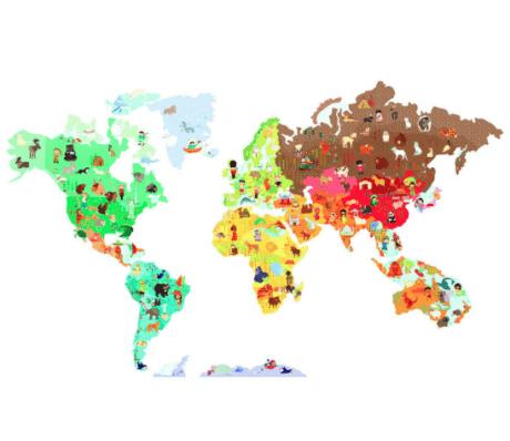 Magnetic world map - Toyella
