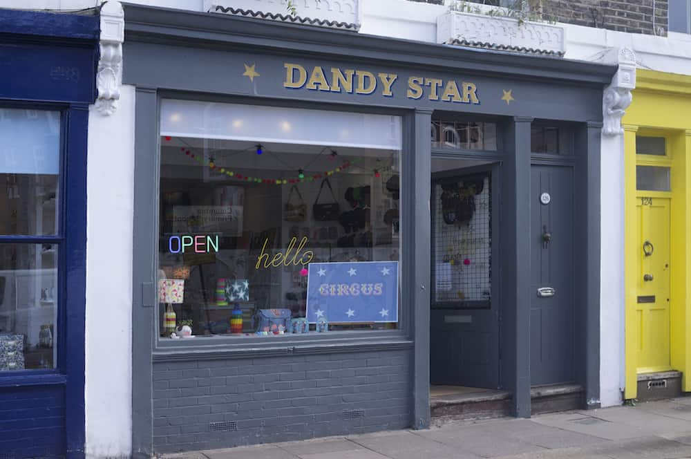 Bricks & mortar Dandy star Columbia Road London