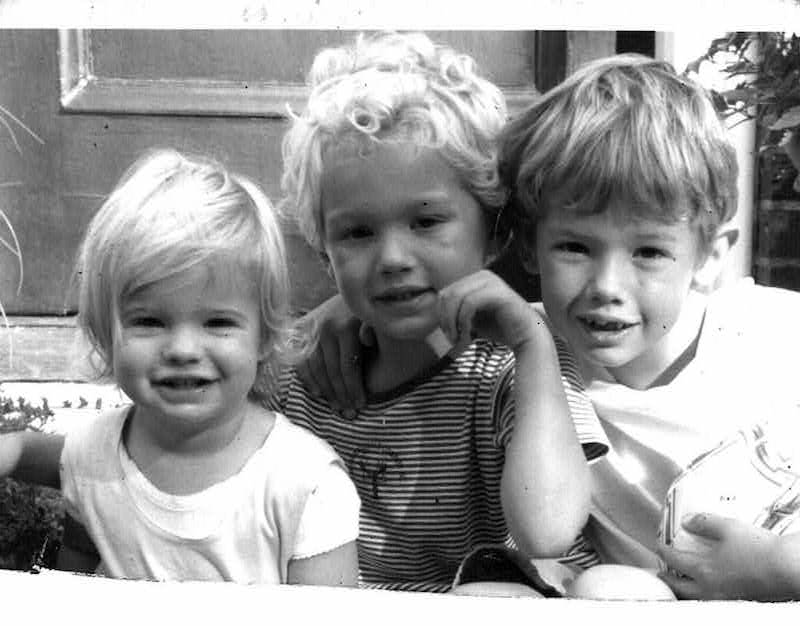Angela van der Meulen's children: Carmela, Gabe and Nico, 2003