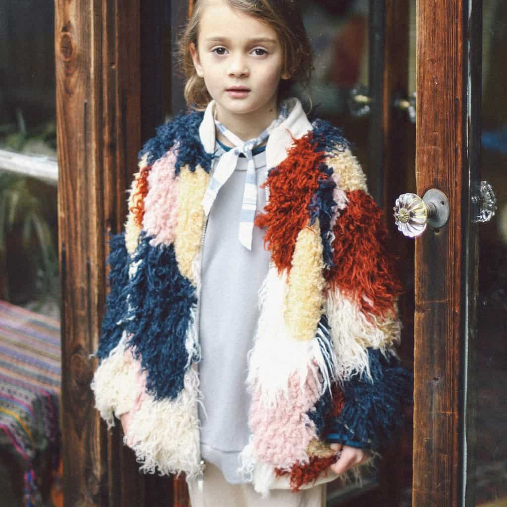 Nico Nico spirit fur bomber ; Faux Fur kid's fashion
