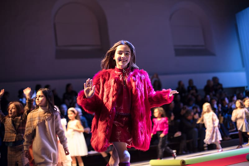 kid's fashion AW18 - Andorine at KidzFizz Colour Carpet runway show at Pitti Bimbo 86