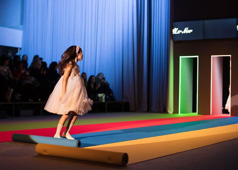 kid's fashion AW18 - Le Mu at KidzFizz Colour Carpet runway show at Pitti Bimbo 86