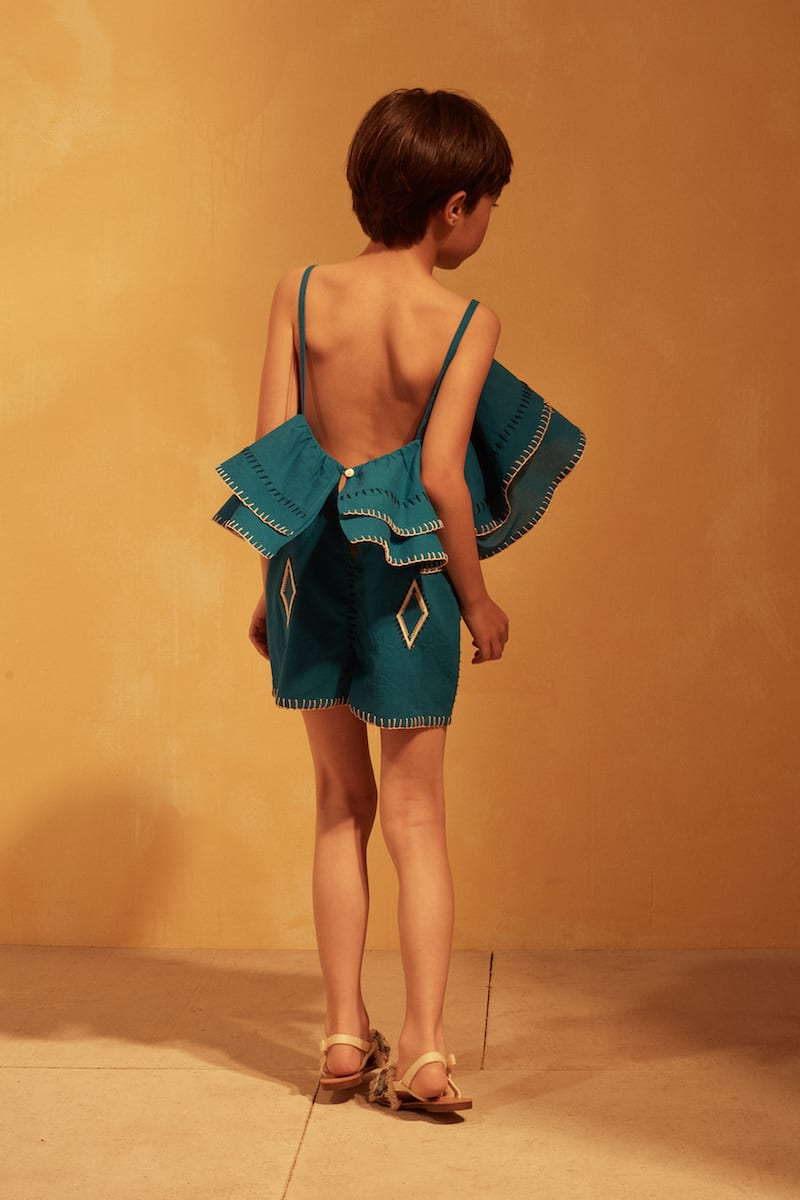 16029 - Tuchinda SS18 collection - Landra Jumpsuit - Mykonos Blue - Lifestyle 2