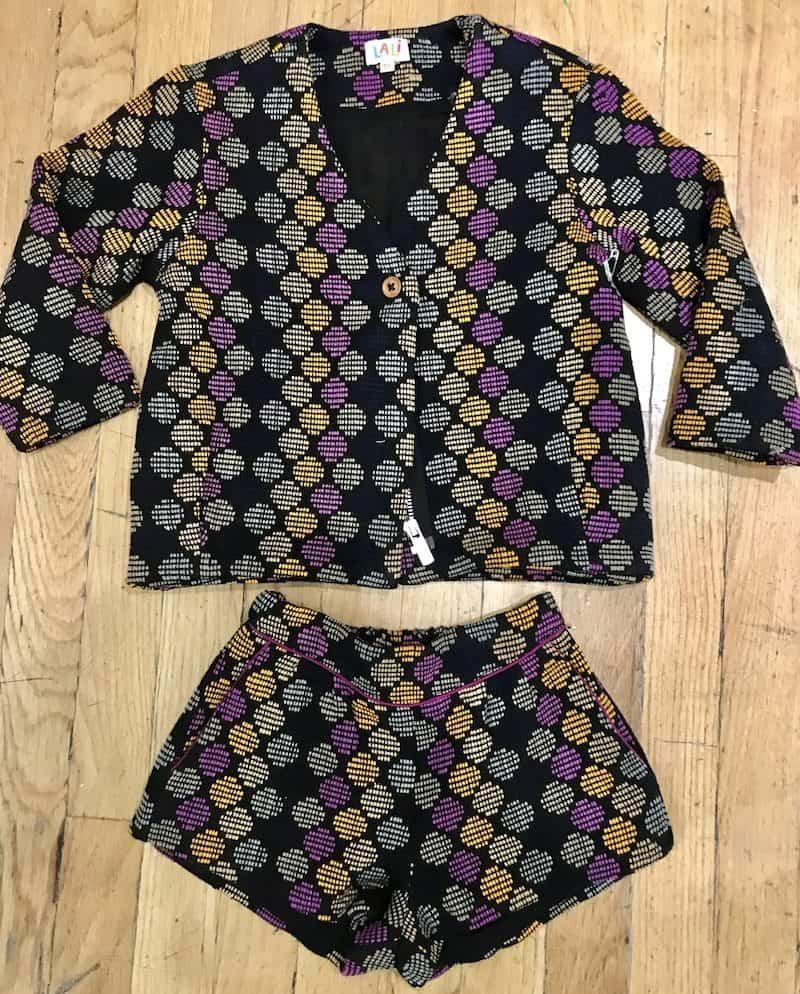 #CoupDeCoeur woven short / jacket set : Lali