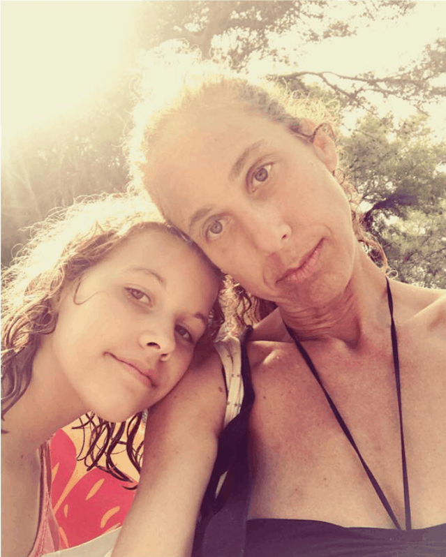 Zoe Adlersberg - with daughter Uma, summer spent in Ibiza