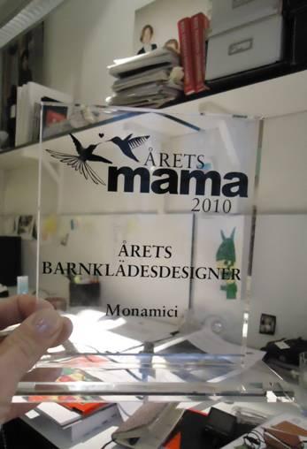 Swedish parental magazine Mama awarded Monamici The Kids Fashion Designer of ...
