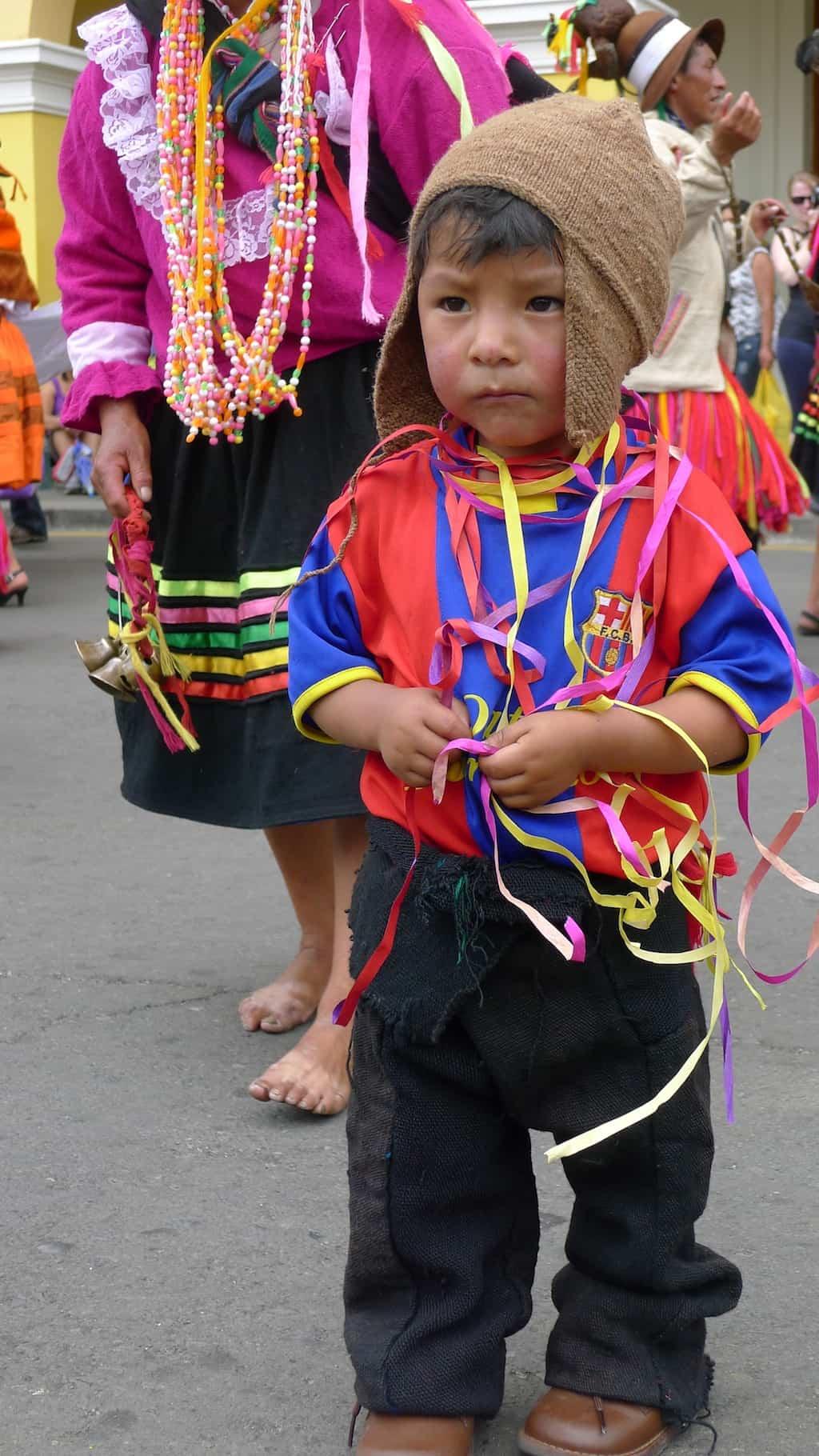 kid in Peru