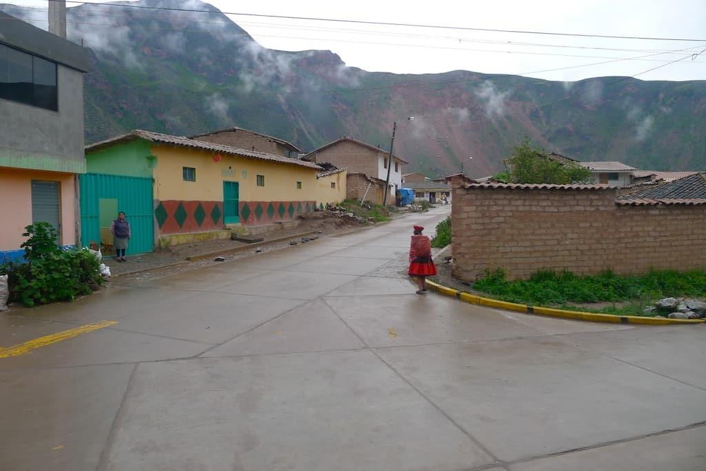 empty street in Peru