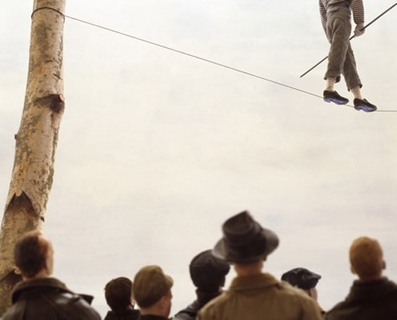 Paolo Ventura - Winter stories, tightrope walker