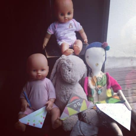 Jess Brown Doll Poppy visiting Pirouette
