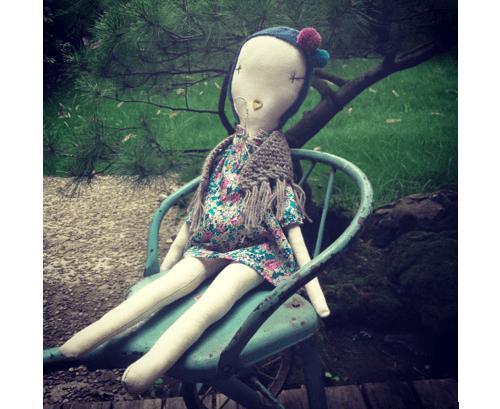 Jess Brown rag doll visits Pirouette