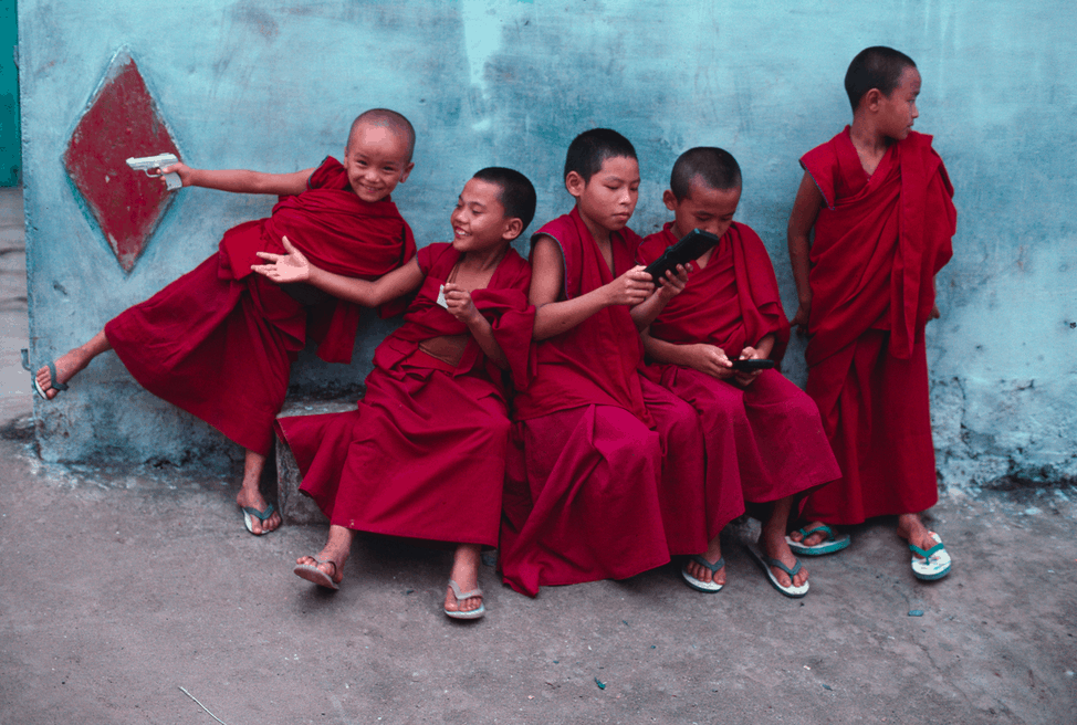 Steve McCurry Young Monks 1999