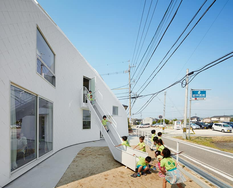 Clover house kindergarten Okazaki Japan by MAD architects