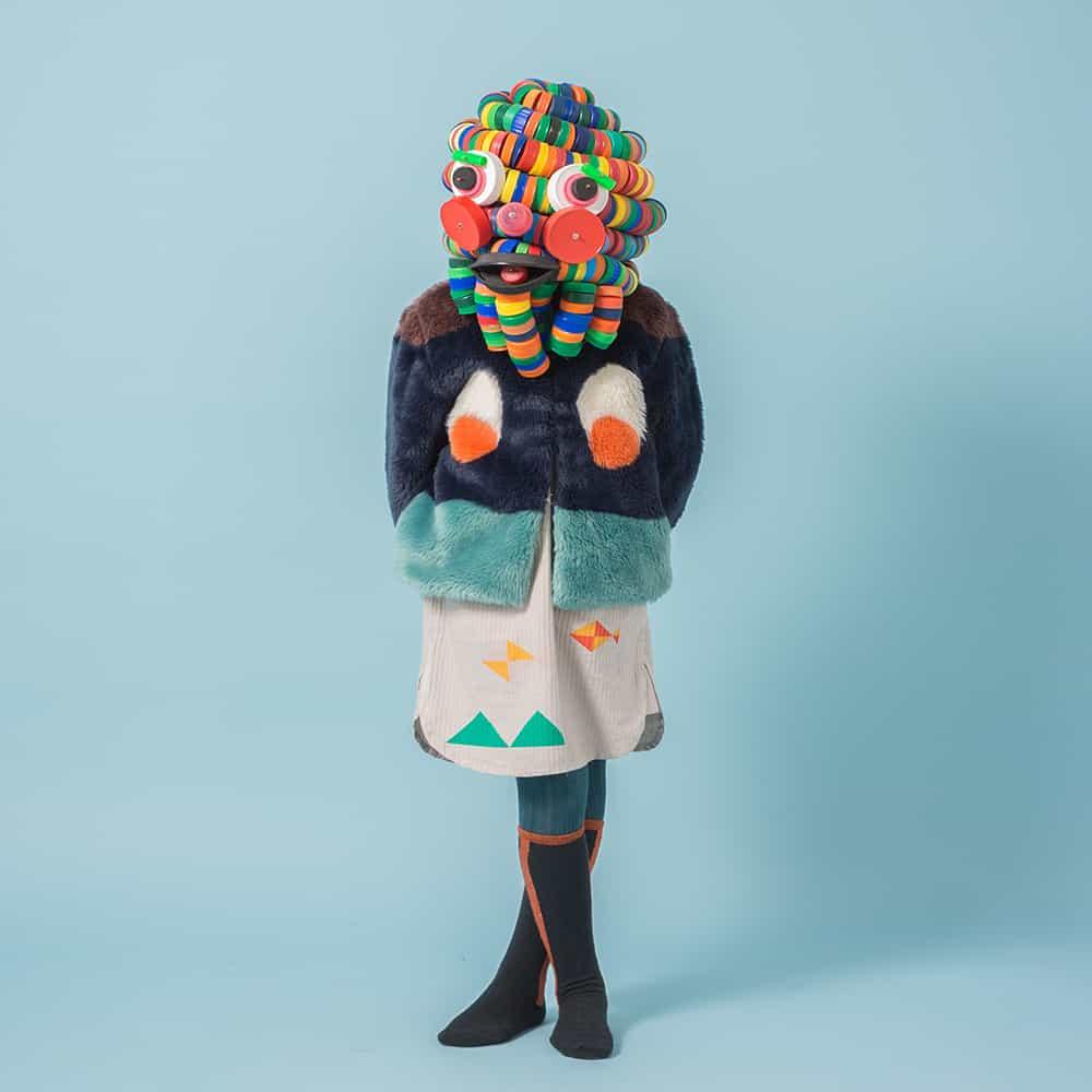 Faux fur kid's fashion picks : Bobo Choses Faux Fur Jacket Eyes