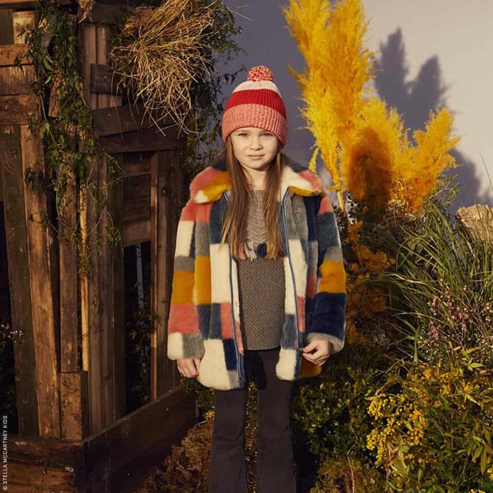 Faux fur kid's fashion picks : STELLA McCARTNEY KIDS Abbie Faux Fur Coat
