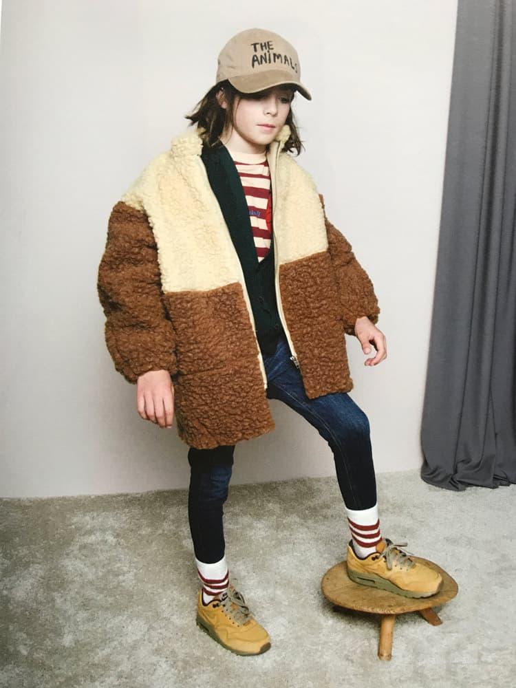 Faux fur kid's fashion picks : Animals Observatory Brown Panda Coat