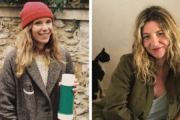 Charlotte Huguet (left) Stylist/Editor, ELLE France. Laia Aguilar (right) -Designer/Co-Founder, The Animals Observatory.