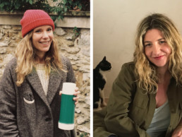 Charlotte Huguet (left) Stylist/Editor, ELLE France. Laia Aguilar (right) -Designer/Co-Founder, The Animals Observatory.