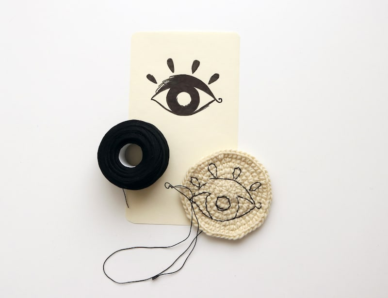 hand embroidered spyglass for the Pirouette One to Watch Award by Severina Kids