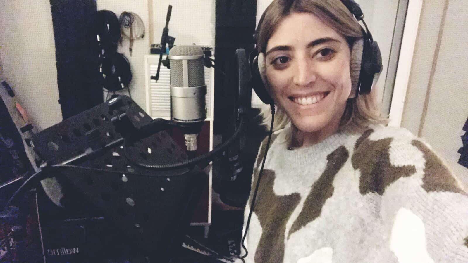 Bea in the studio