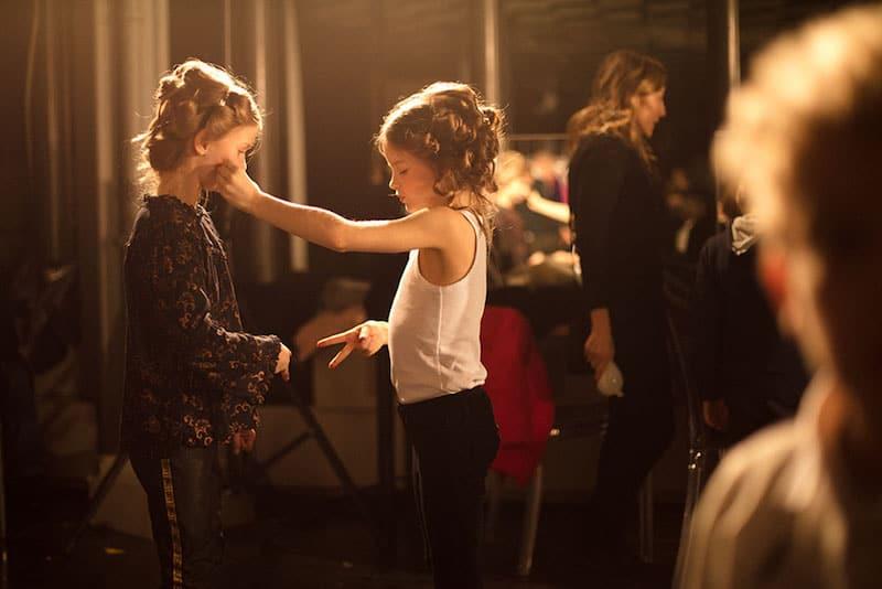 kid's fashion AW18 - Backstage at Monnalisa 50th anniversary. A golden age runway show at Pitti Bimbo 86