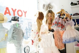 Cristina Villegas owner at Yoya store New York. Children's fashion and lifestyle.