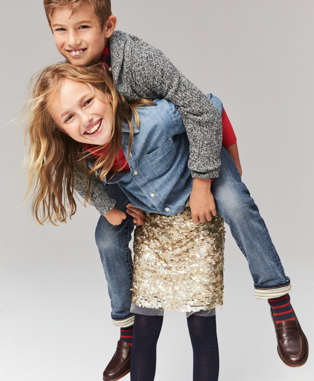 Child model Carly Connors with her brother Jackson