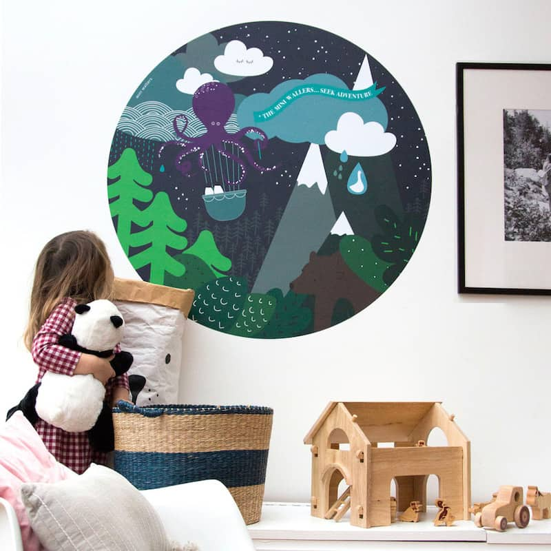 Mini wallers wall decals for children