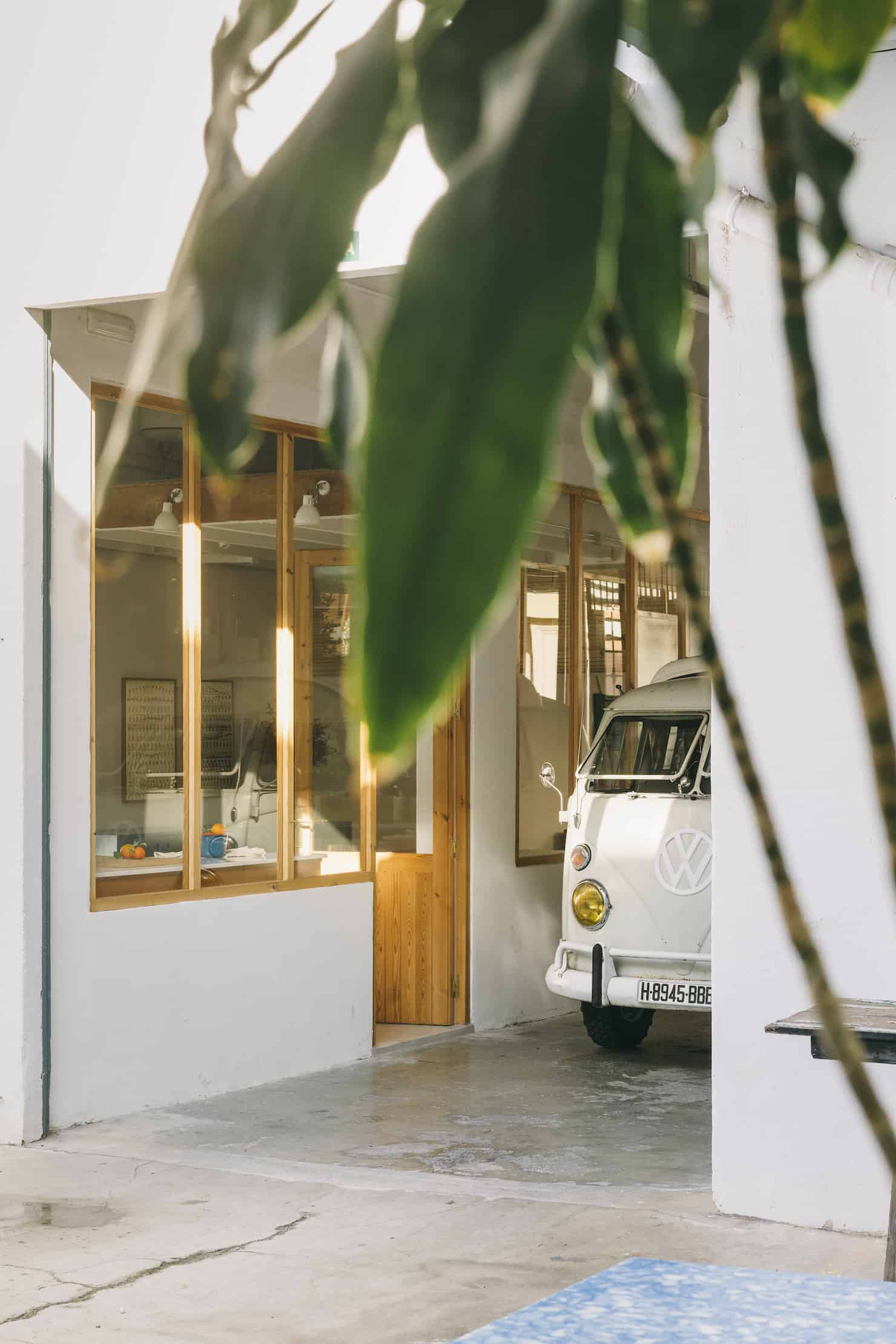 Bobo Choses work space and campervan