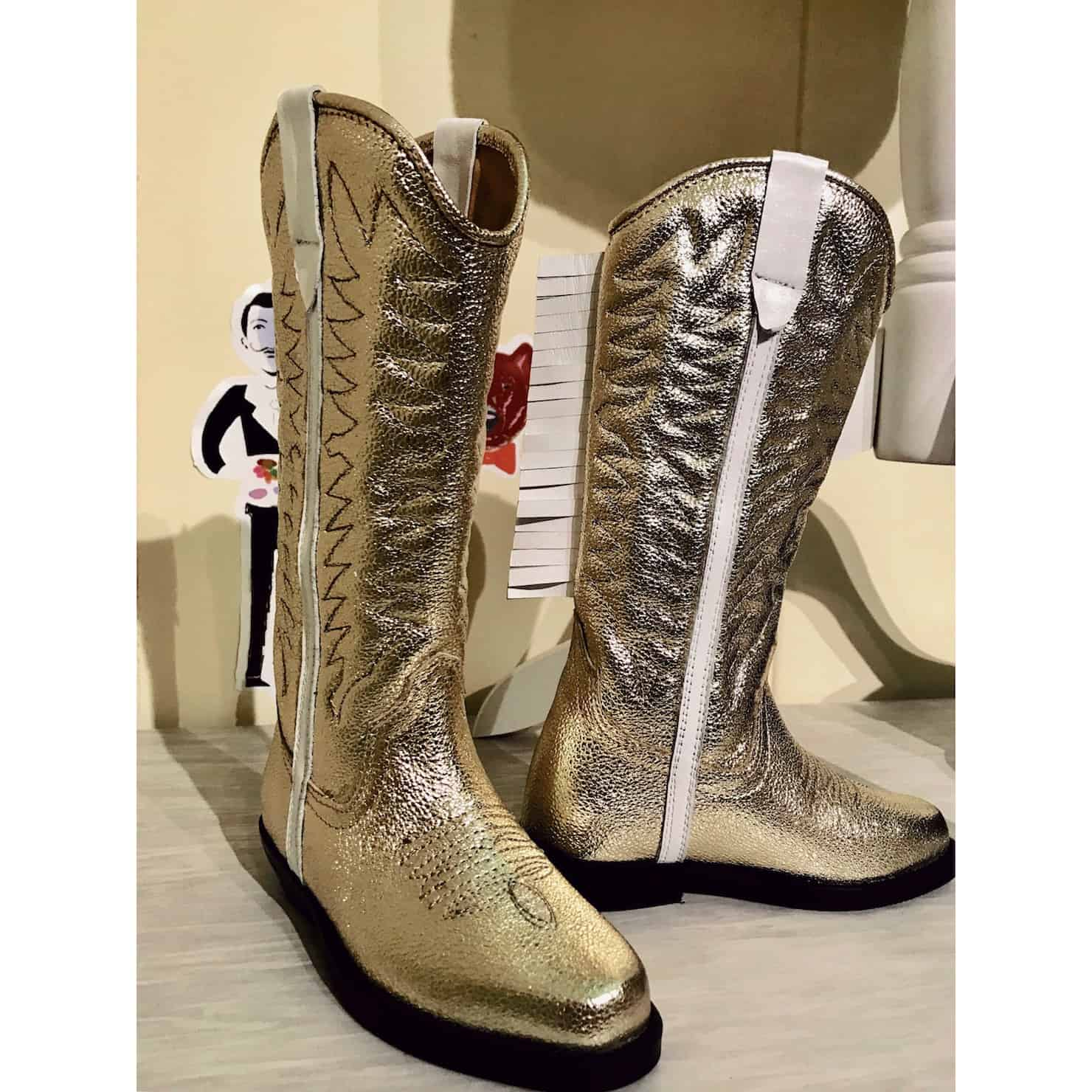 Pitti Bimbo 88 - metallic trends boots