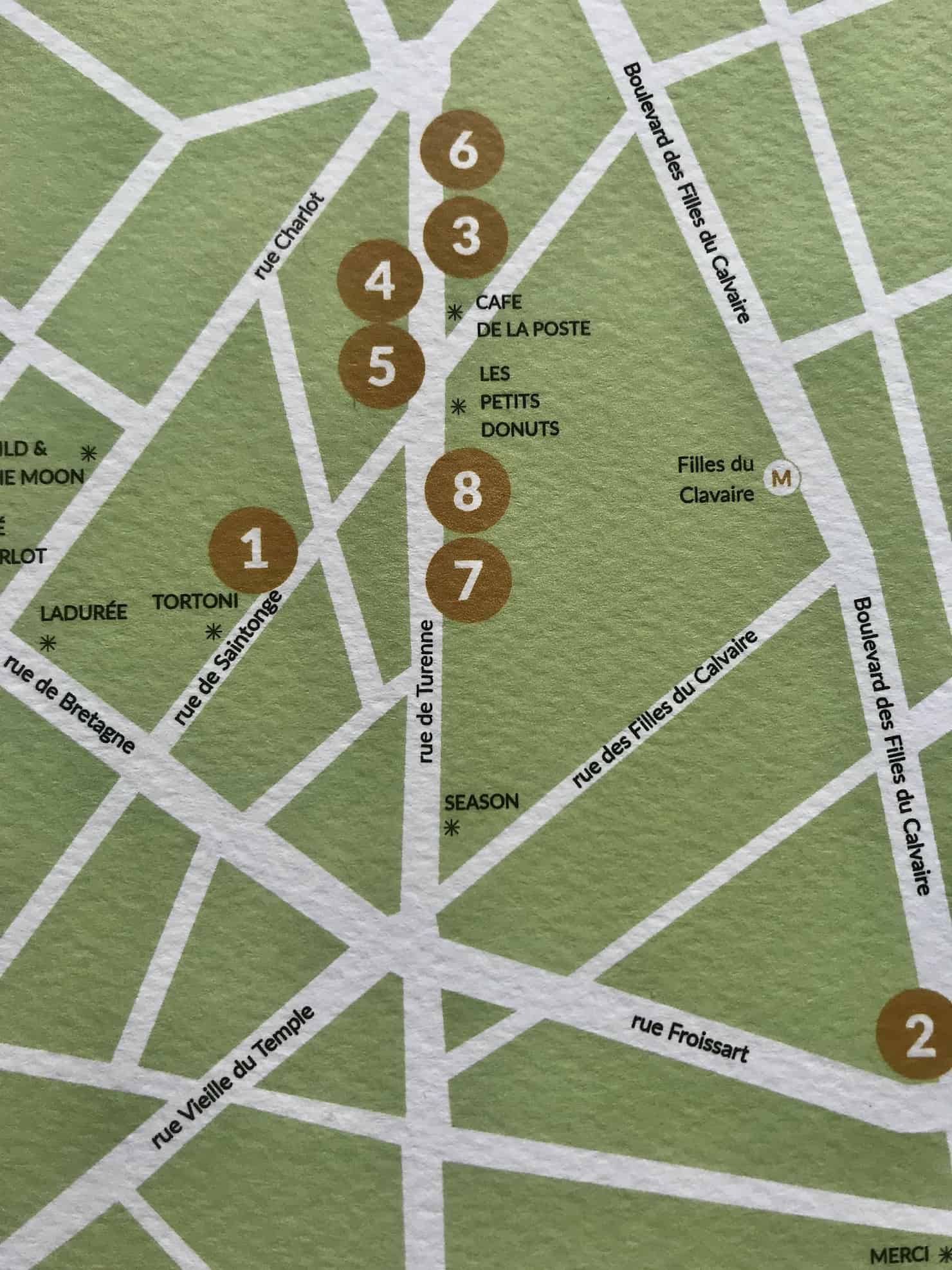 Kid week Rue De Turenne le Marais showroom map