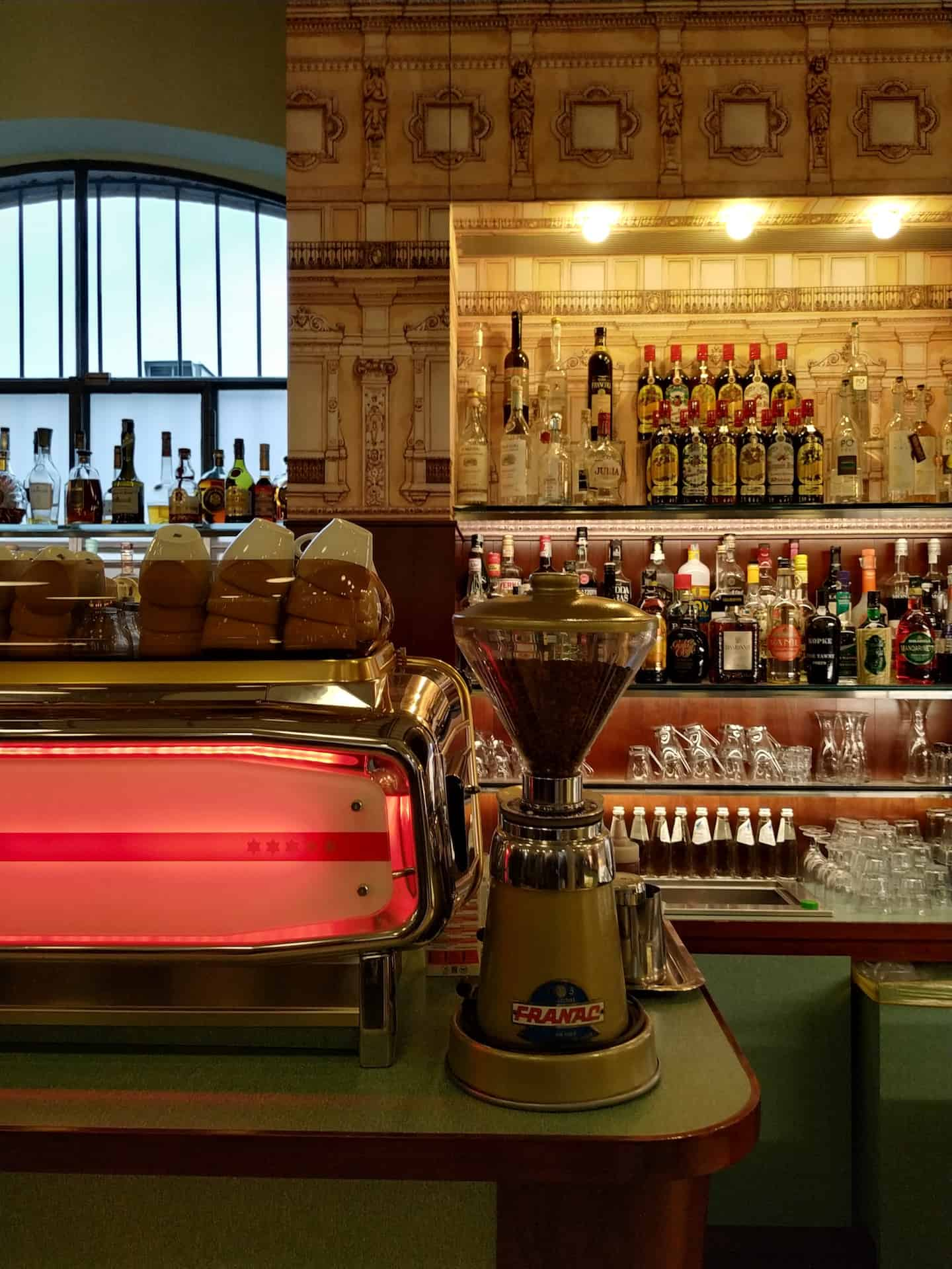 Bar Luce in the Prada Foundation designed by Wes Anderson