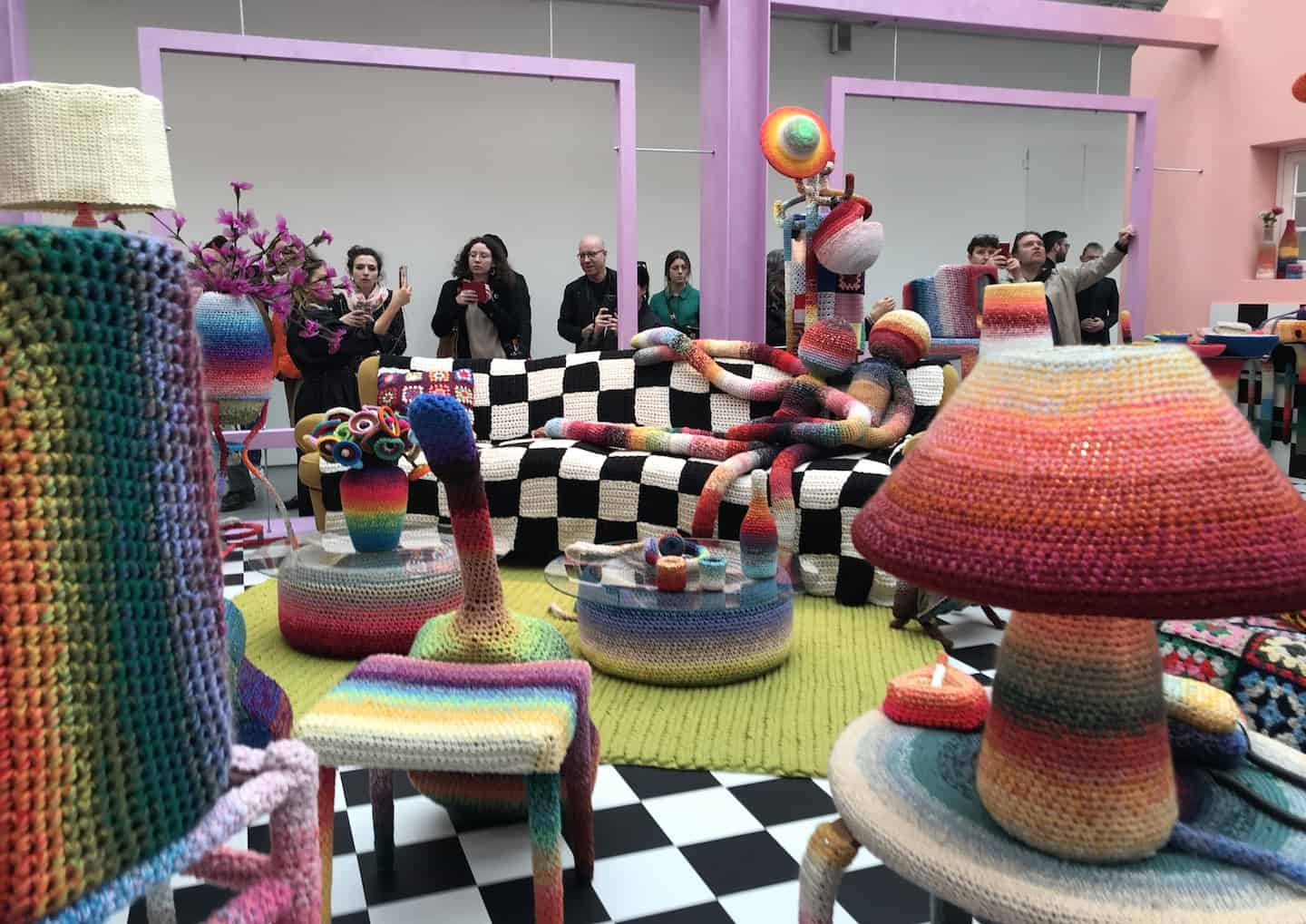 Missoni colourful knits by Alessandra Roved at milan design week MDW 2019