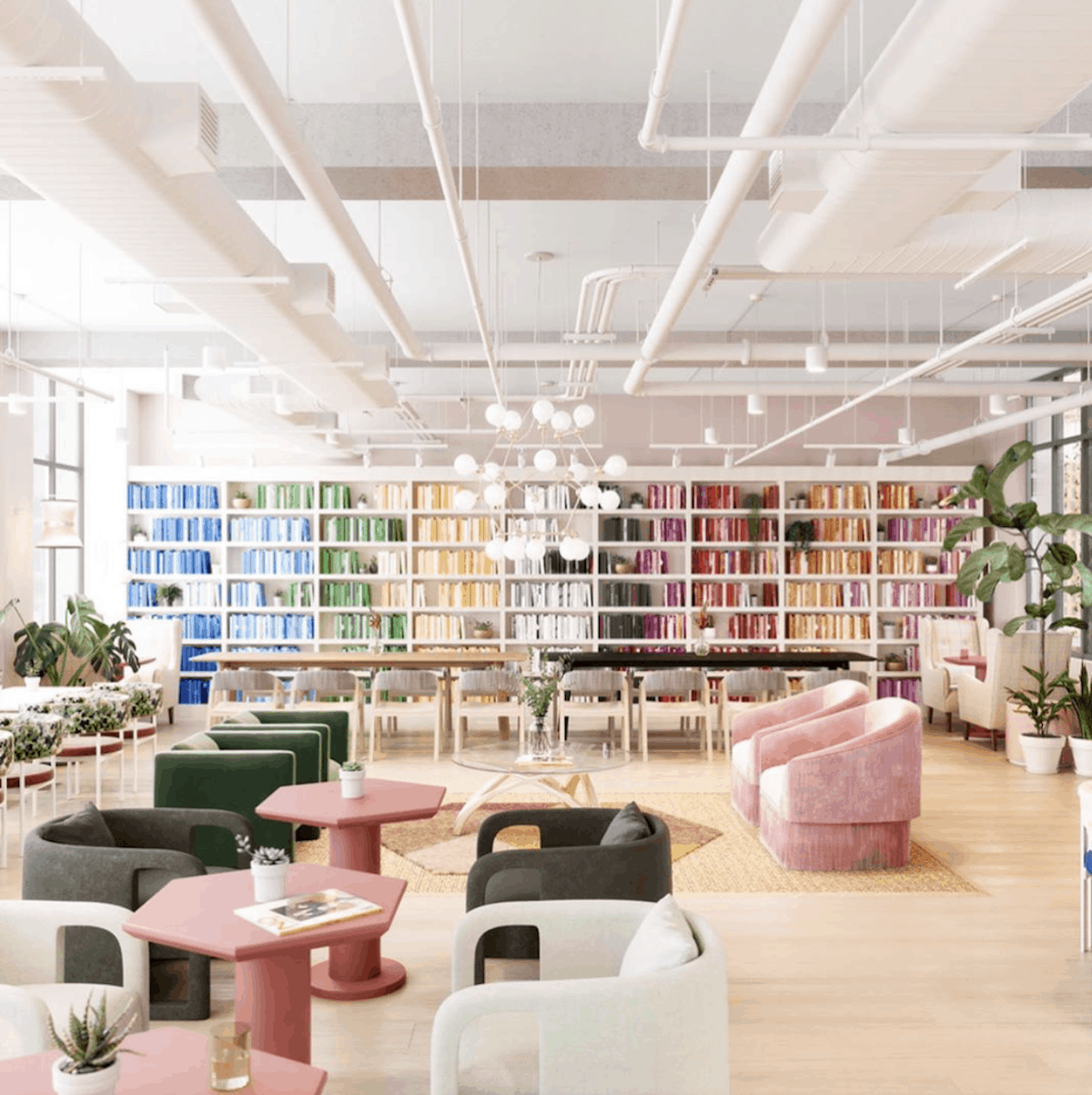 The Wing is a co-worker space designed for women in London