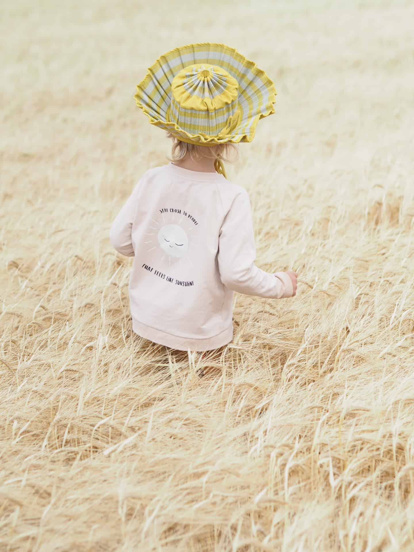 Lorna Murray natural fibre foldable Capri hat for children