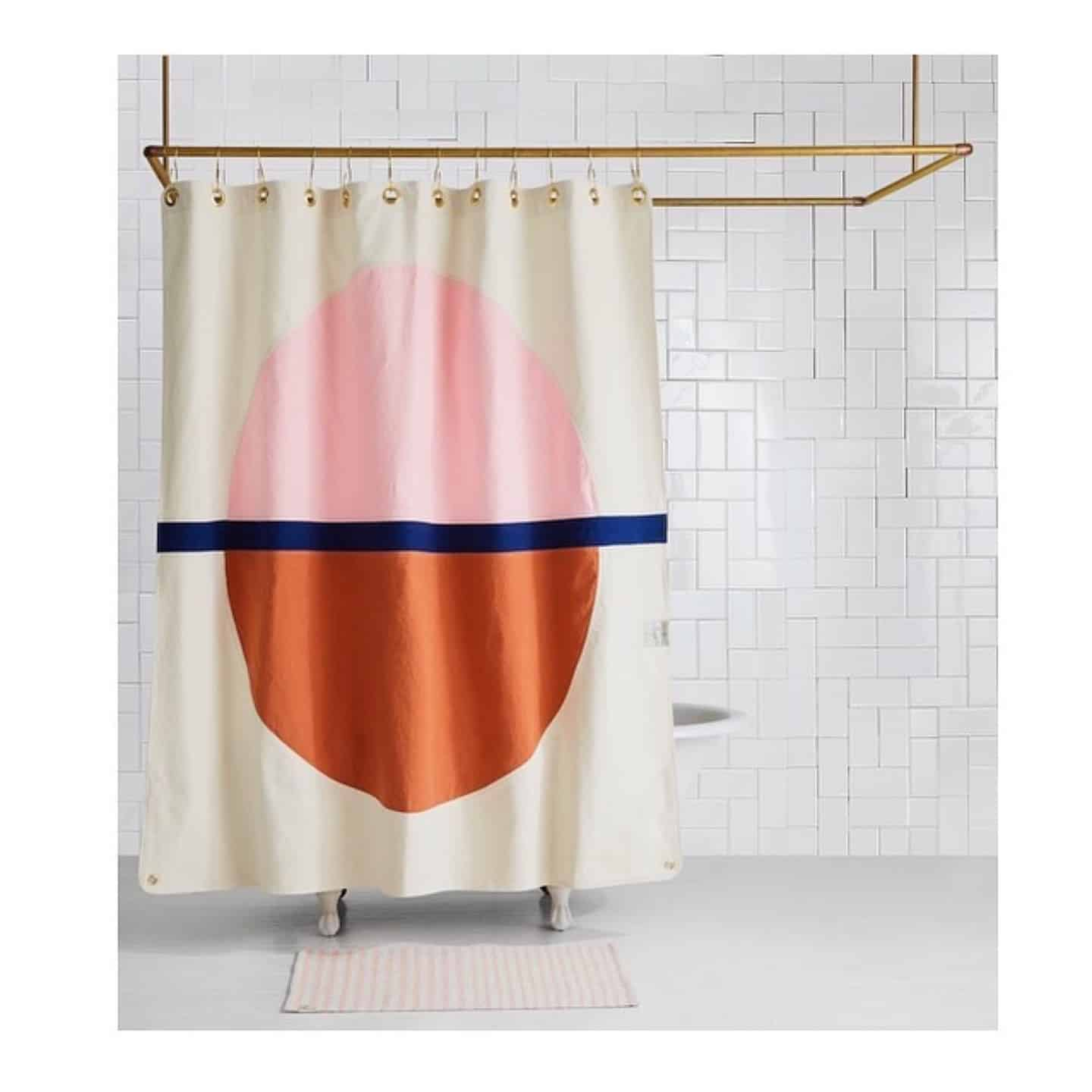 Brooklyn based Quiet Town's Shower Curtains