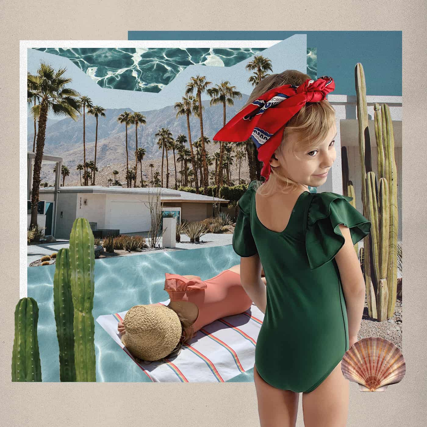joe sun kid's swimwear